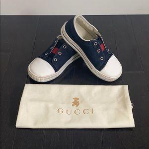 Boys Gucci Web Sneakers